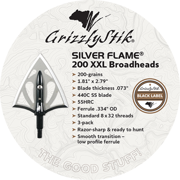 Silver Flame 200-grain XXL Stainless Steel Double Bevel Broadheads